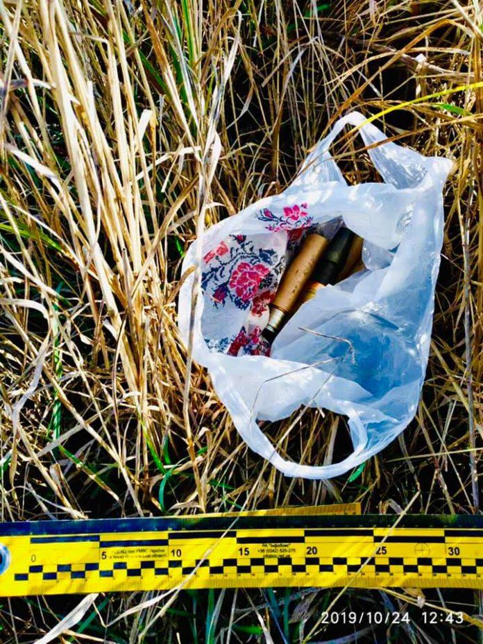 В передмісті Івано-Франківська виявили покинутий пакет із гранатами та іншими боєприпасами