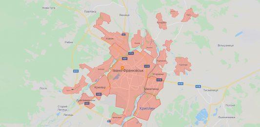 карта івано-франківської отг