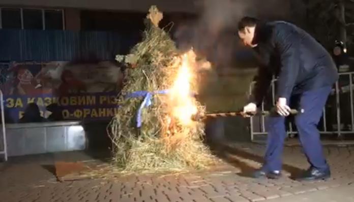 Марцінків очистив місто від злих сил: відео