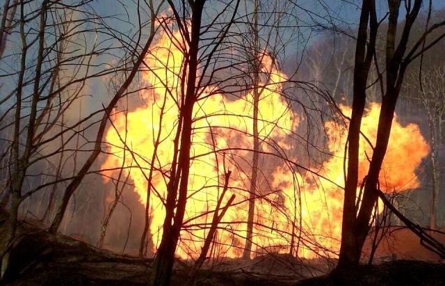 В Івано-Франківській області трапилася пожежа на газопроводі