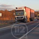 На Прикарпатті легковик на швидкості влетів у вантажівку – один з водіїв у лікарні: фото та відео