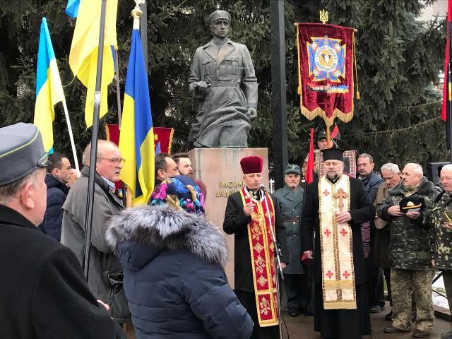 На Прикарпатті вшанували полковника УПА Андрусяка