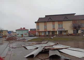 Шквальний вітер позривав дахи та повалив дерева у Галичі: фотофакт