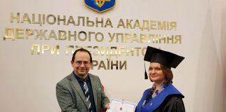 Франківська депутатка здобула диплом магістра державного управління