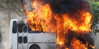 На Тлумаччині загорівся пасажирський автобус