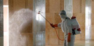Прикарпатські рятувальники проводили дезінфекцію в житлових будинках та в обласній інфекційній лікарні