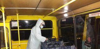 Щоб попередити коронавірус у Франківську дезінфікують маршрутки: фото