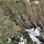 Територію неподалік автобазару в Угринові перетворюють на стихійне сміттєзвалище: фотофакт