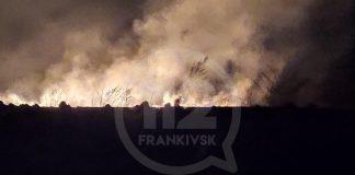 За минулу добу на Прикарпатті горіла суха трава, автомобіль та господарські будівлі
