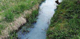 У Калуші Млинівка змінила забарвлення води