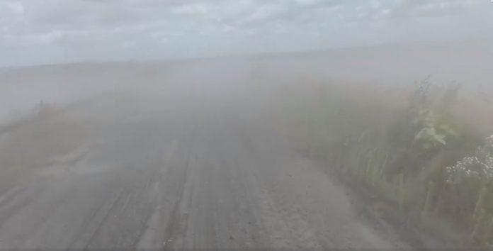 Пилова буря із золовідвалу ДТЕК Бурштинська ТЕС накрила сусіднє