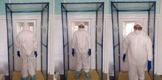 У Надвірнянській лікарні встановили дезінфікуючу рамку: фотофакт