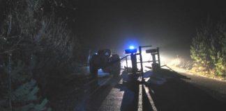 На Франківщині посеред ночі перекинувся трактор - водій загинув, ще одна особа отримала травми