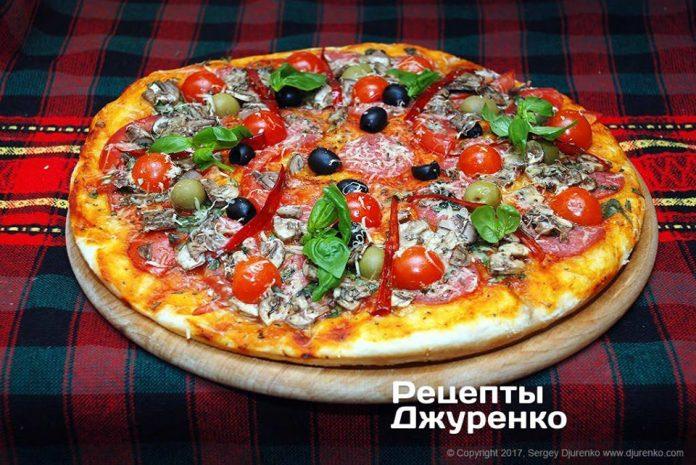 Как приготовить вкусную домашнюю пиццу