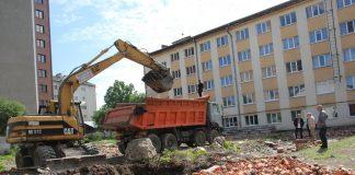 ІФНМУ почав будівництво житлового будинку для працівників університету: фоторепортаж