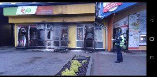 З'явилися фото нічних підпалів у центрі Надвірної