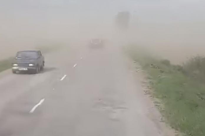 Коломийщину накрила пилова буря: відео