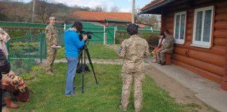 Бійці знімають на Коломийщині кліп до Дня піхоти: відео