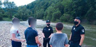 Прикарпатські ювенали нагадують дітям правила безпечного відпочинку на водоймах: фотофакт
