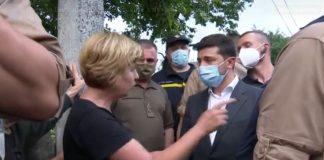 Володимир Зеленський спілкується із обуреними мешканцями Ланчина