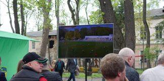 На території Палацу Потоцьких відновлюють зону для футбольних вболівальників: відео