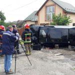 Неподалік Франківська перекинувся легковик, водій загинув на місці: фотофакт