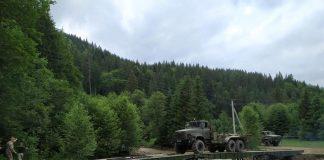 Закарпатські військові встановлюють на Верховинщині переправи ФОТО