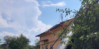 У Городенківському районі негода зірвала димохідну трубу котельні та пошкодила дах школи