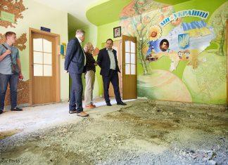 Марцінків перевірив стан ремонтних робіт в ліцеї №1, а також в дитячому садку «Малятко»
