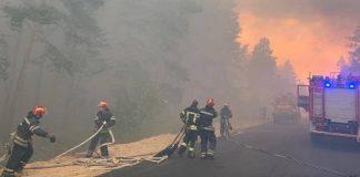 У масштабній лісовій пожежі на Луганщині загинули шестеро людей, ще 24 - госпіталізовано ВІДЕО