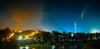 У мережі показали неймовірні знімки комети Neowise над нічним Галичем. ФОТО
