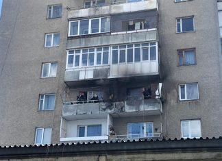 На Прикарпатті трапилася пожежа на балконі житлової квартири