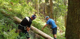 Прикарпатські волонтери промаркували туристичний маршрут на хребет Матагів