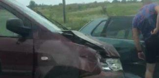 На Прикарпатті через водійку, яка перевищила швидкість, сталась масштабна ДТП ВІДЕО