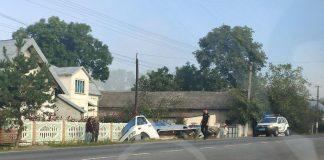 На Прикарпатті перекинувся евакуатор з автомобілями ФОТО