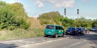 Навпроти обласної інфекційної лікарні завершили облаштування автомобільної парковки