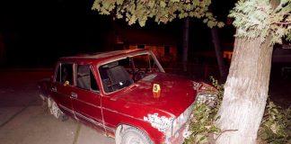 Двоє прикарпатців на краденому авто врізались в дерево та втекли з місця події ФОТО
