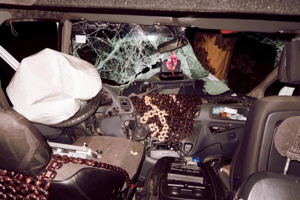 На Коломийщині автівка посеред ночі вилетіла з дороги та врізалась у дерево: є постраждалі ФОТО
