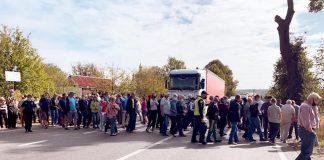 На Франківщині перекрили дорогу регіонального значення, поліція пропонує об'їзд
