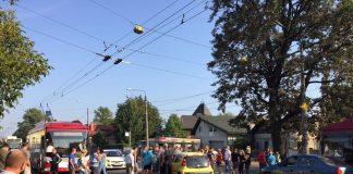 """Мешканці ЖК """"Паркова алея"""" перекрили центральну вулицю, через відключення газу на тиждень"""