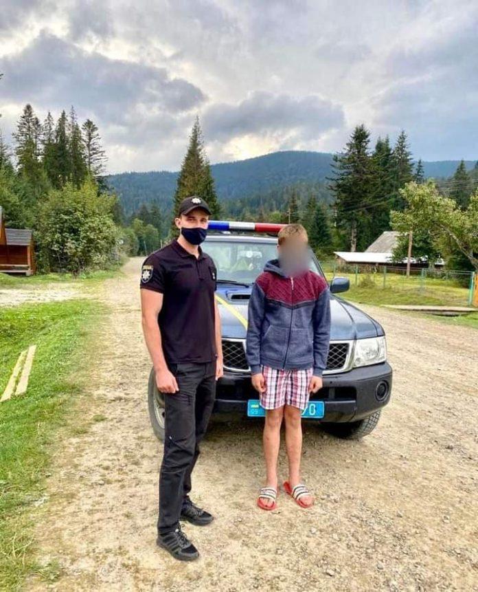 В лісі на Прикарпатті заблукав 14-річний юнак ФОТО