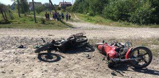 Прикарпатець керуючи мотоциклом без номерів протаранив інший мотоцикл на якому перебувало двоє неповнолітніх - усі троє отримали травми