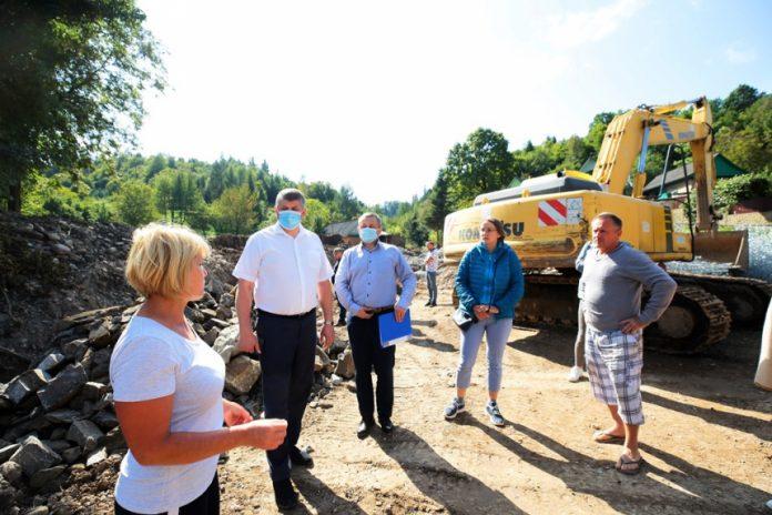 У Надвірнянському районі відновлюють об'єкти, пошкоджені червневою негодою