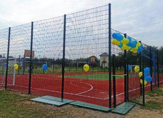 У прикарпатському селі облаштували багатофункціональний спортмайданчик ВІДЕО