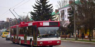 У Франківську, через затори, тролейбус № 6 тимчасово змінив маршрут