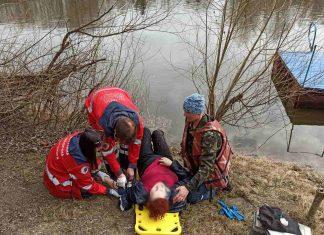 Франківець врятував життя жінці, котра впала з моста у річку