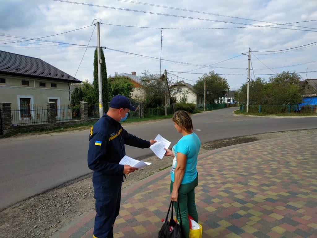 Рятувальники нагадали прикарпатцям про важливість дотримання карантинних обмежень ФОТО