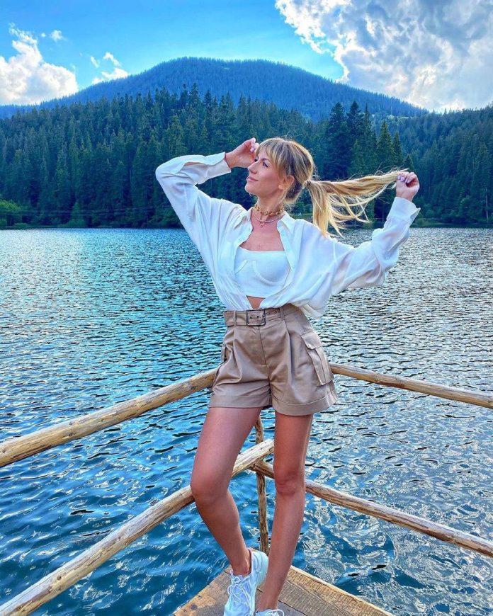 Епатажна телеведуча Леся Нікітюк допомагає знайти нове життя лісам Карпат ФОТО
