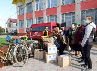 Працівники Карітасу передали допомогу мешканцям Спаської ОТГ, які постраждали від повені