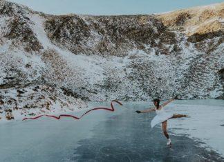 Прикарпатка станцювала на ковзанах на найвисокогірнішому озері України ФОТО